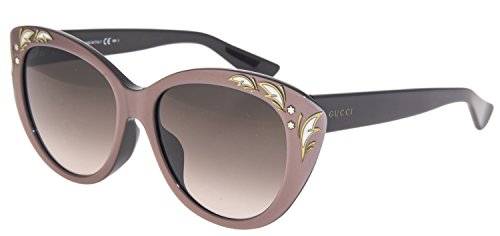 GUCCI GG3828/F/S Purple Mink Black Mother Of Pearl Cat Eye Sunglasses ASIAN FIT - Purple Gucci Sunglasses