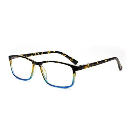 Inlefen hombres resina para de mujeres de lentes sol Amarillo y rectangulares Gafas rxq68RwCr