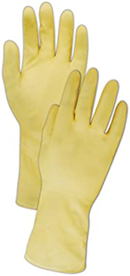 6 Width Ansell 414M 414 Natural Rubber Latex Glove Natural Pack of 12 Yellow 12 Length 0.17 Height Medium