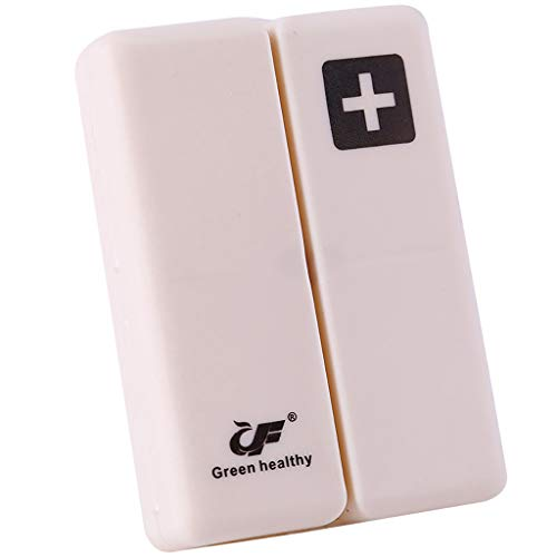 Ktyssp Portable Medicine Case Foldable Magnetic Supplement Pill Box Organizer -