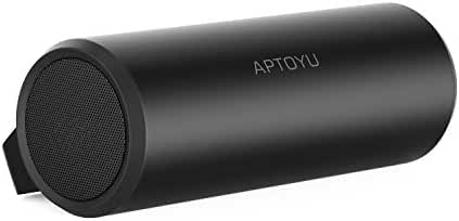 Aptoyu Bluetooth Speakers with 24 Hour Playtime, Bluetooth Range and Built-In MIC, Dual-Driver Wireless Speaker with Super Bass, TF Card Support and 3.5 mm Aux Input