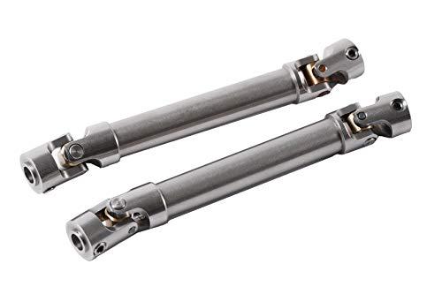 RZXYL Universal DriveShaft Upgrades Aluminium Accessories for 1/10 RC Car Truck Rock Crawler 100-150 mm(2PC)