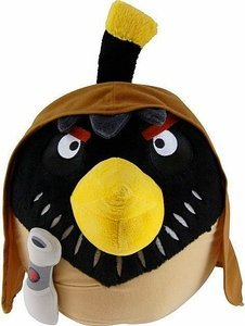 "Official Angry Birds Star Wars 6"" plush toy from Series 2 - Obi-Wan"