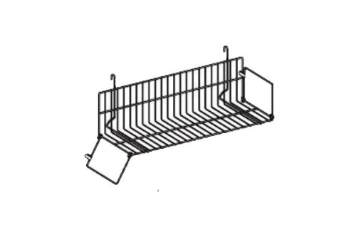 24'' Gridwall Video / Book Shelf Black Wire 3 Pcs - Works With Grid Panels