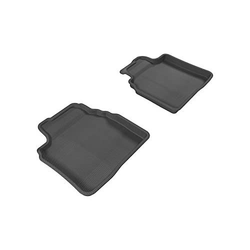 Cheap 3D MAXpider Second Row Custom Fit All-Weather Floor Mat for Select Mazda6 Models - Kagu Rubber (Black) for sale