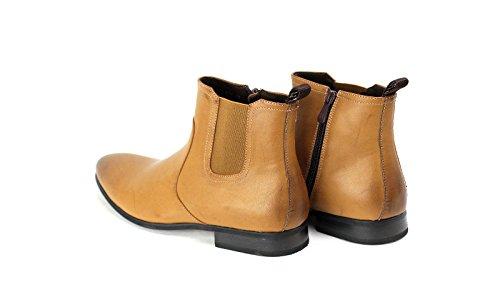 Hombre Botines Chelsea Sin cordones + Vestido Cremallera Zapatos Formales número EU 39 7 8 9 10 11 Marrón