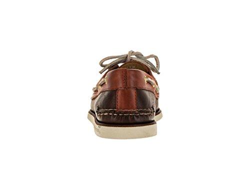 Sperry Top-sider Chaussure De Bateau Compensée En Or Pour Homme Marron / Orange
