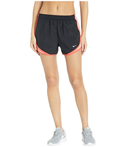 Nike Women's Tempo Running Shorts, Black/Pink Gaze/Ember Glow/Wolf Grey, Size Medium