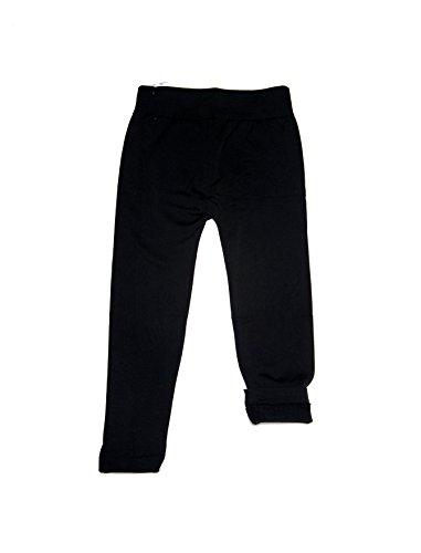Girl Fleece Lined Leggings (L/XL, Black) - Childrens Fleece Lined Leggings
