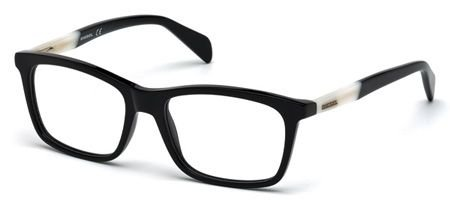 DIESEL Eyeglasses DL5089 001 Shiny Black 54MM