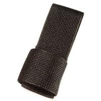 """HWC Police Security Black Nylon Universal Maglite """"C"""" y """"D"""" Celular Caso de anillo de soporte de linterna para cinturones de servicio"""