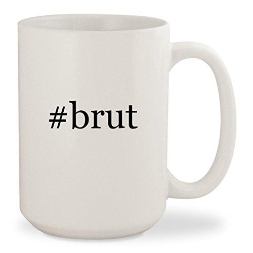 #brut - White Hashtag 15oz Ceramic Coffee Mug Cup