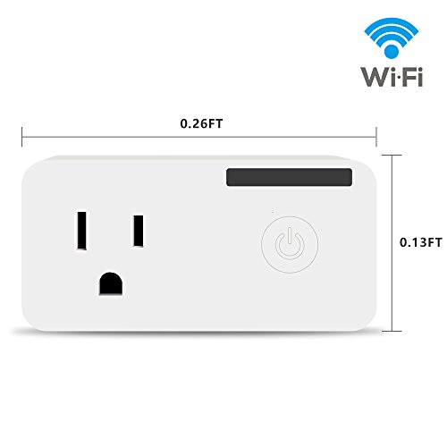 WIFI Smart Socket Plug Timing Switch Power Monitoring Mini Smart Socket Any Network Compatible with Alexa Remote Control from Anywhere Convenient by LAOPAO