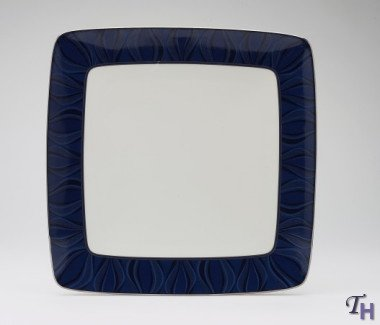 Noritake Stardust Platinum Large Square Accent Plate