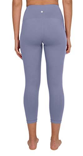 90 Degree By Reflex - High Waist Tummy Control Shapewear - Power Flex Capri - Blue Moon - Large