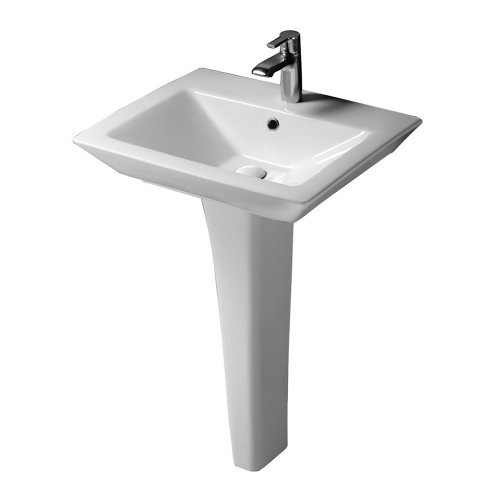 Barclay 3-368WH Opulence Pedestal Lavatory Rectangular Bowl In White