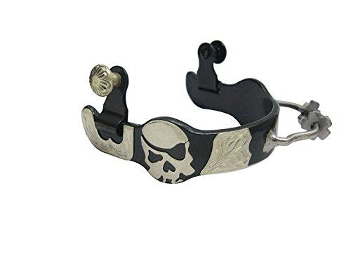 Barrel Racing Bumper Spurs Humane Sidewinder with Rowels Pirate Skull Ladies