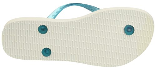 Damen Weiß Slim Havaianas white turquoise Paisage Zehentrenner ISS8w