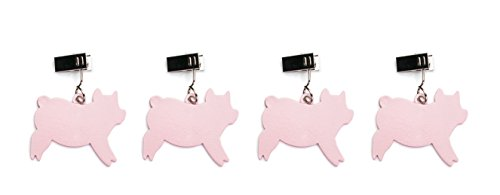 Charcoal Companion Pig Tablecloth Weights, Set of 4 by Charcoal Companion