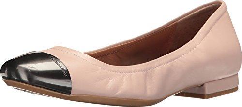 Calvin Klein Women's Fiana Ballet Flat, Blush, Size 8.0 (Tan Metallic Ballet Flats Shoes)