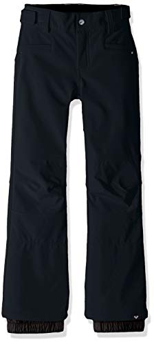 Roxy Little Creek Girl Snow Pant, True Black, 10/M