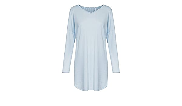 883dcd430b Rosch 1183660-12557 Women s Smart Casual Light Denim Blue Night Gown  Loungewear Nightdress 46  Amazon.es  Ropa y accesorios