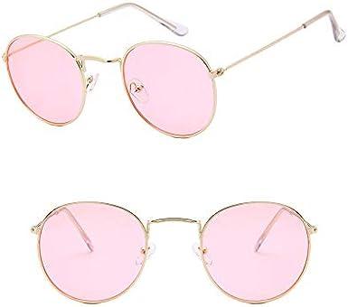 LHKQ Occhiali da sole per uomo Donna retro John Lennon Occhiali da sole rotondi Occhiali da vista classici in metallo Occhiali da vista vintage Hippie Occhiali da vista