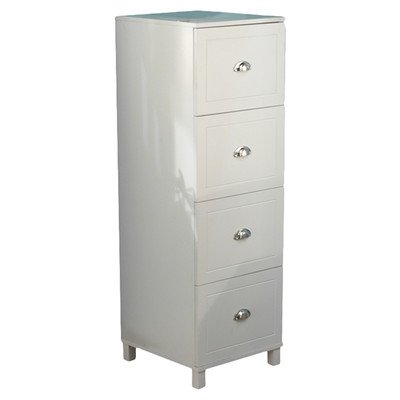 Bradley 4 Drawer Filing Cabinet Finish: Antique White