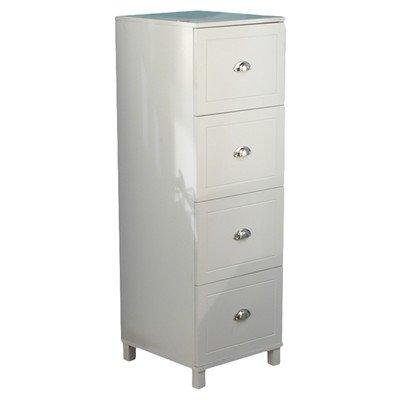 Bradley 4 Drawer Filing Cabinet Finish: Antique White