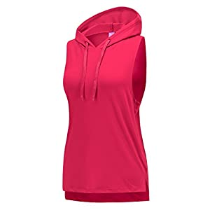REGNA X NO BOTHER Women's Scoop Neck heathered performance Sleeveless Hooded Top