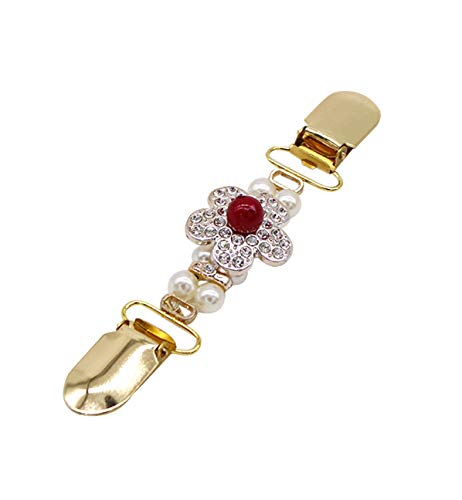 - ZAKIA Women' Elegant Faux Pearl Crystal Brooch Pins Clothes Decoration (Flower)