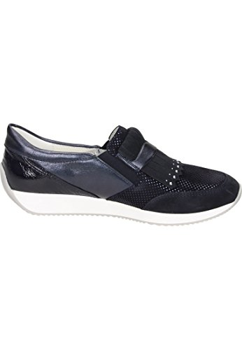02 Lissabon Blå blau Ara Loafers Kvinners Hvit 5xYaq