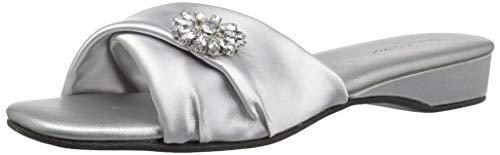 Daniel Green Women's Dormie Twist Slipper, Silver, 8.5 M US