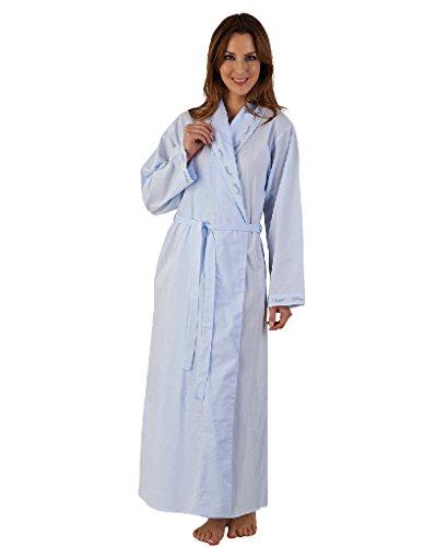 Slenderella Blu Cotone 52 Manica Lunga Vestaglia HC04252
