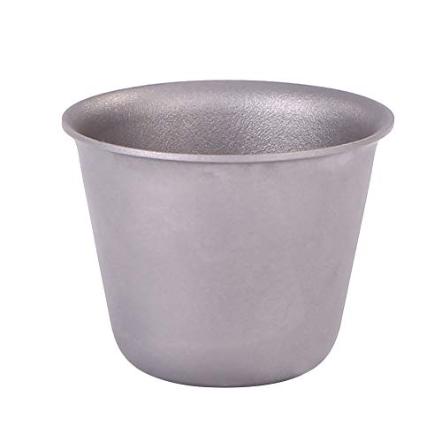 Outdoor Titanium Wine Cup, Portable Camping Tea Mug, Mini Metal Tea Bowl for Living Rooms, Compact Spirit Holder for Wine House, Durable Tea Store Accessories ()