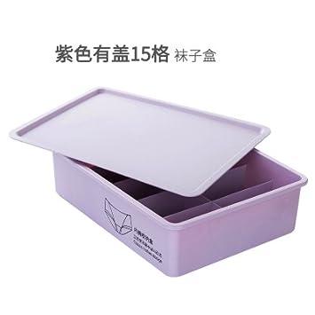 CWAIXX Sujetador ropa interior ropa interior armario y cajón almacenamiento enrejado de caja cuadros calcetines almacenaje