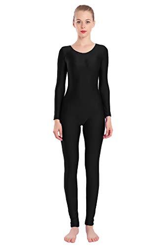 Aoylisey Women's Long-Sleeve Unitard 1201 (black, M) ()