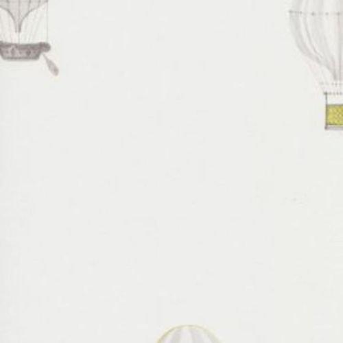18997141 - Jules et Julie Green Air Ballons Casadeco Wallpaper by Casadeco