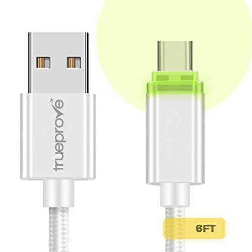 White 3.2FT LED Lit Cable for Barnes & Noble Nook & Nook Color Models Charging Sync Data Cable (Color Users Note Cable Will not display charging on Tablet screen) (Screen Nook Glowlight Replacement)
