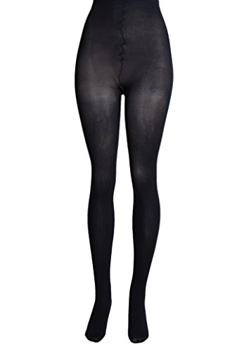 Lissele Women's Plus Size Opaque Tights Pack of 2 (Black, 3x)