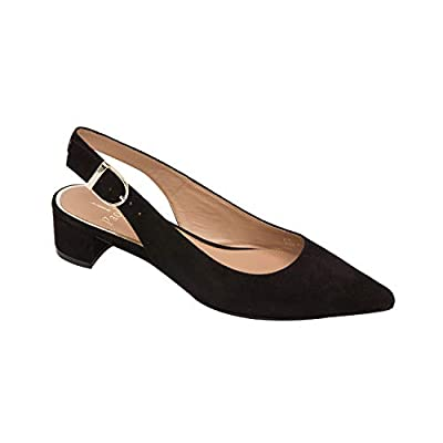 Linea Paolo - Cella - Svelte Pointy Toe Block Heel Patent Suede Slingback Pump (New Fall)