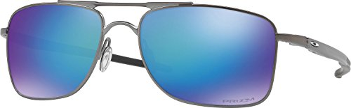 Oakley Men's Gauge 8 Polarized Iridium Rectangular Sunglasses, Matte Gunmetal, 62 - E Wire Sunglasses Oakley