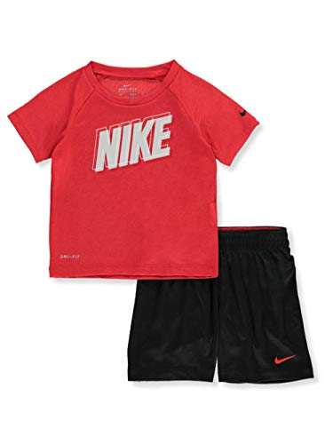 - Nike Boys' 2-Piece Shorts Set Outfit - red Multi, 12 Months