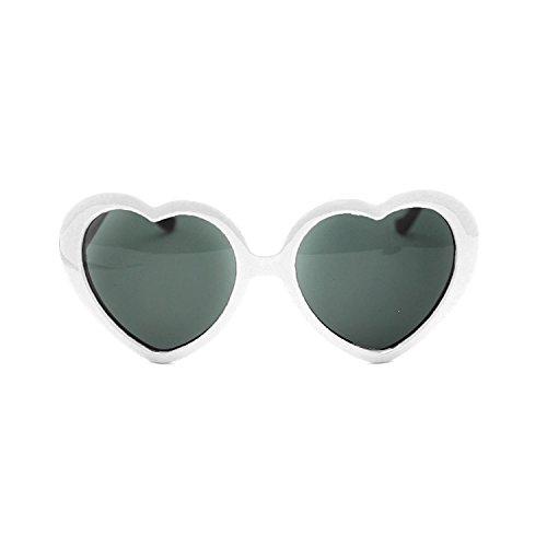 l'amour forme demandé lunettes 2013 cœur de rétro soleil HuaYang de en Blanc très 4xU0S01n