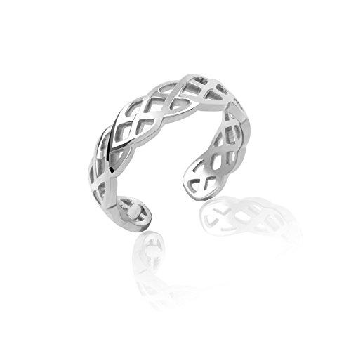 Honolulu Jewelry Company Sterling Silver Braided Weave Toe Ring ()