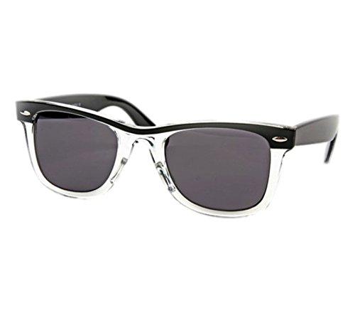 Retro Wayfarer Two-tone Black Fashion - Sunglasses Josie