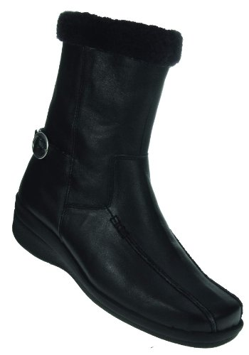 Spring Waterproof Boot Leather Step Black Women's Vail paXxpwrq