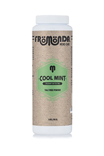 - Fromonda Cool Mint Talc Free Body Powder - All Natural Dry Deodorant With Spearmint & Tea Tree Oil Essential Oils- Vegan - 5 OZ
