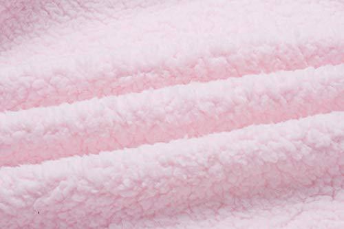 Outwear Poche Veste Manches Epais Pink ASSKDAN Cardigan Chaud Tunique avec Zipp Longue Hiver Femme Manteau ztxwa0