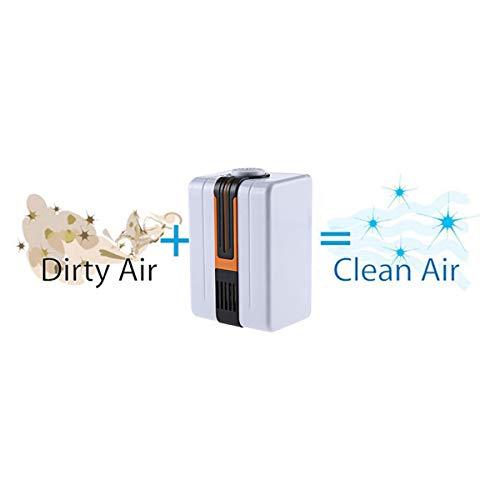 TOOGOO Purificador De Aire Generador De Ionizador Negativo De Aire Silencioso Duradero Eliminar El Formaldeh/ído Purificador De Aire De Polvo De Humo para El Hogar Enchufe De La UE